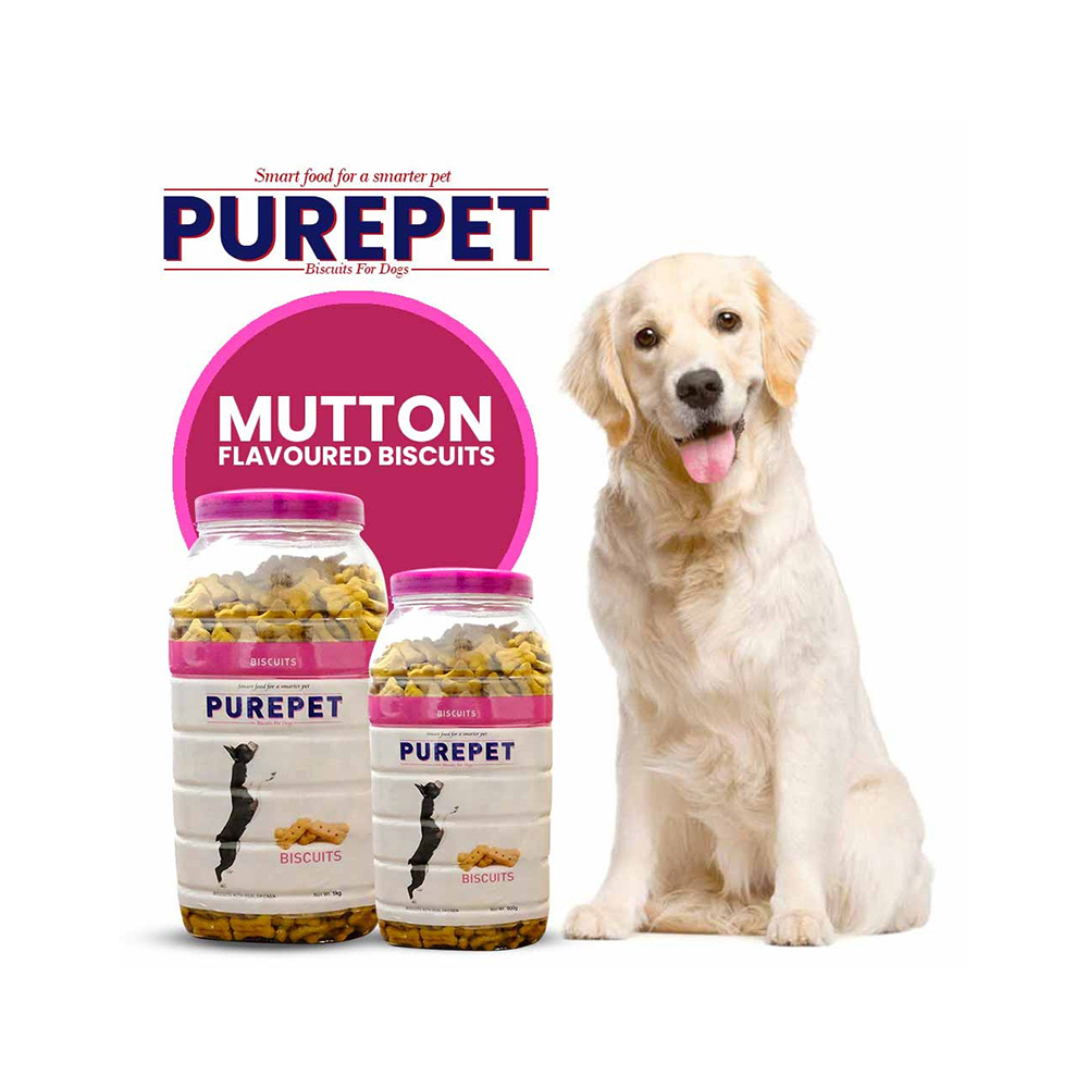 Purepet Mutton Flavored Biscuit Jar | Multiple Sizes |