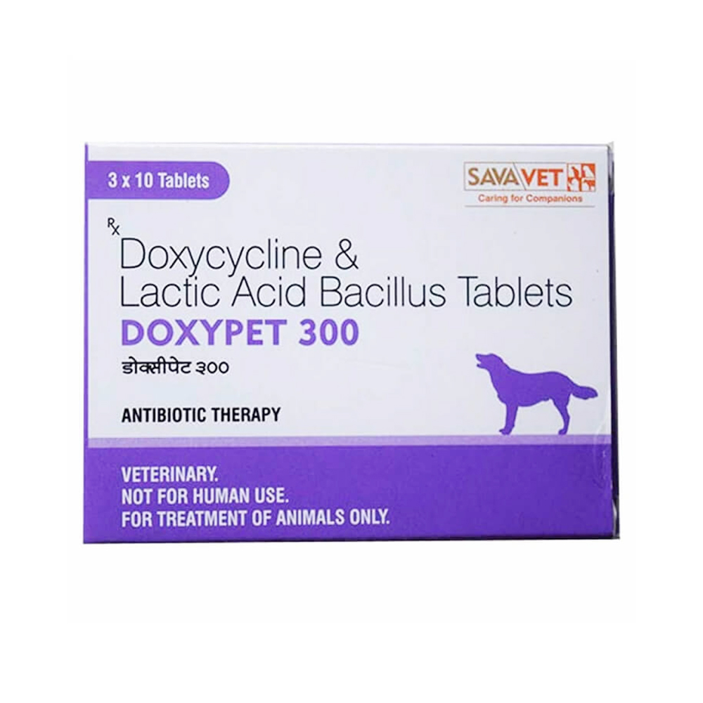 Savavet DoxyPet  300 Tablets | Dogs | 10 Tablets