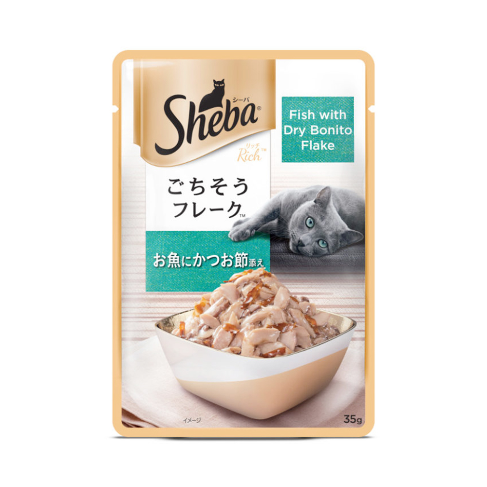 Sheba Fish with Dry Bonito Flake Pouch | 35 GM