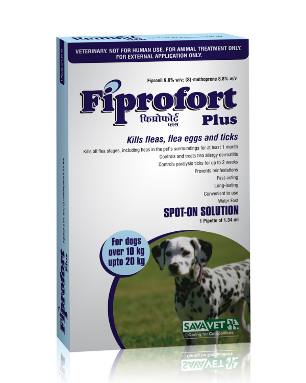 Savavet Fiprofort plus spot on for dogs 10-20kg