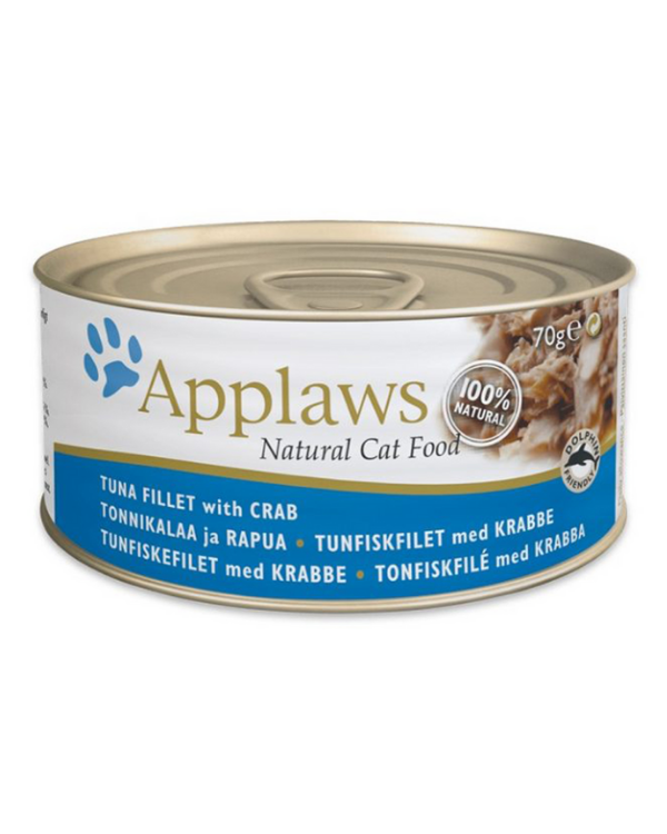 Applaws Tuna Fillet with Crab Tin | 70 GM