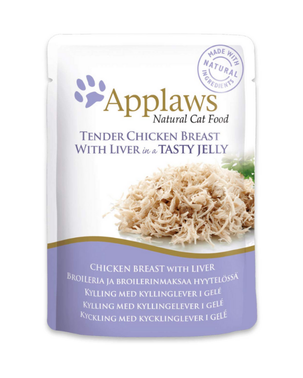Applaws Chicken Breast with Liver in Jelly Pouch | 70 GM