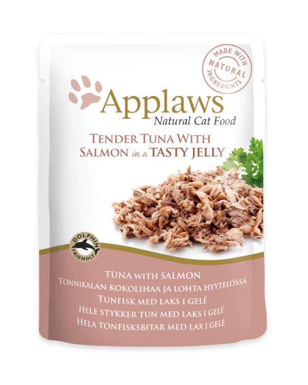 Applaws Tuna with Salmon in Jelly Pouch | 70 GM