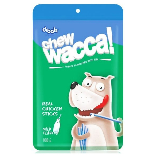 Drools Chewwacca, Milk Flavour - Real Chicken Sticks, Dog Treats, 100g