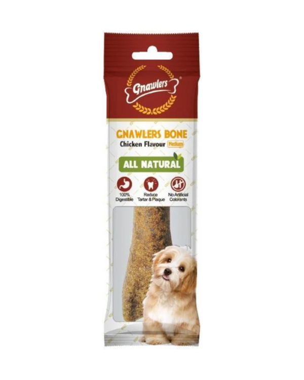 Gnawlers Chicken Bone Medium Dog Treat 8 Inch | 1 Pc