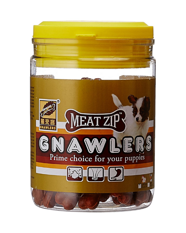 Gnawlers Puppy Snack Meatzip Bone with Chicken Flavour