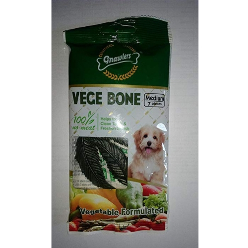 Gnawlers Vege Bone Vegetarian Dog Treats, 60gm