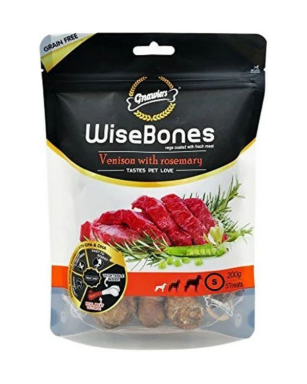 Gnawlers WiseBones Venison with Rosemary
