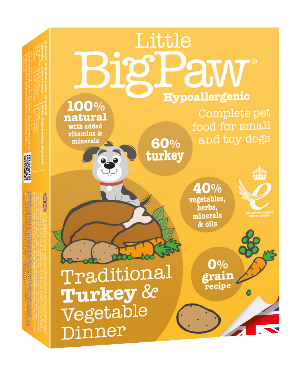Little Big Paw Hypoallergenic Traditional Turkey & Vegatable Dinner