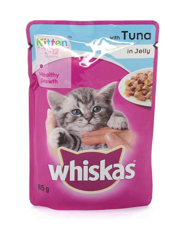 Whiskas Kitten Tuna In Jelly Wet Pouch| Multiple Sizes |