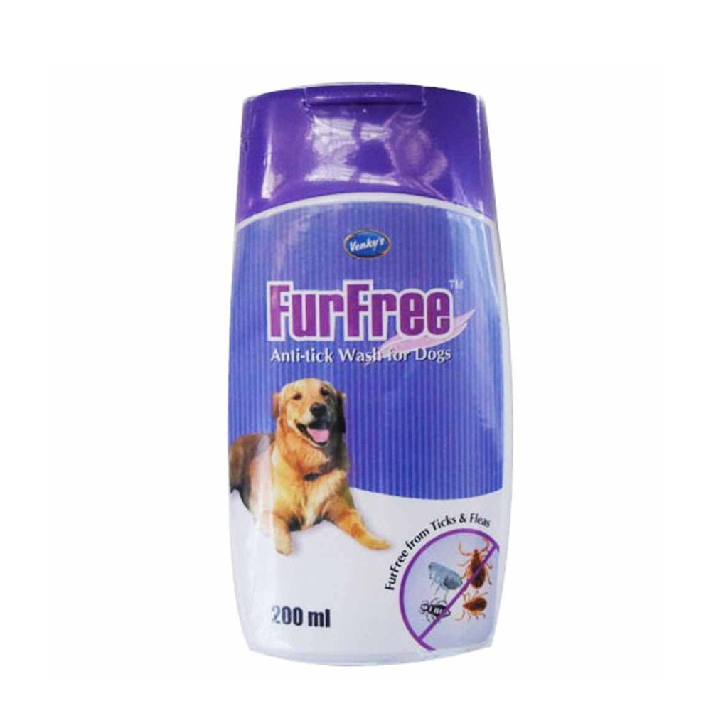 Venky's FurFree Anti Tick Wash | Dogs | 200 ML
