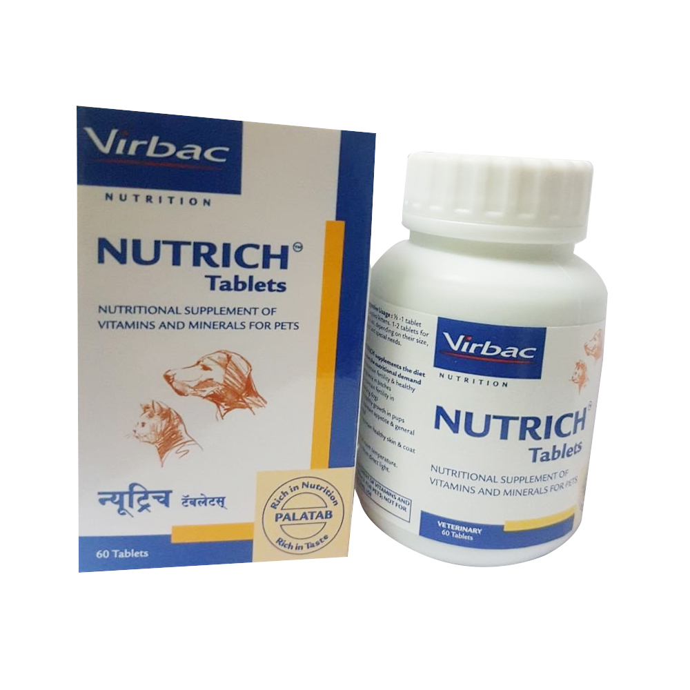 Virbac Nutrich Tablets | Dogs and Cats | Multiple Sizes