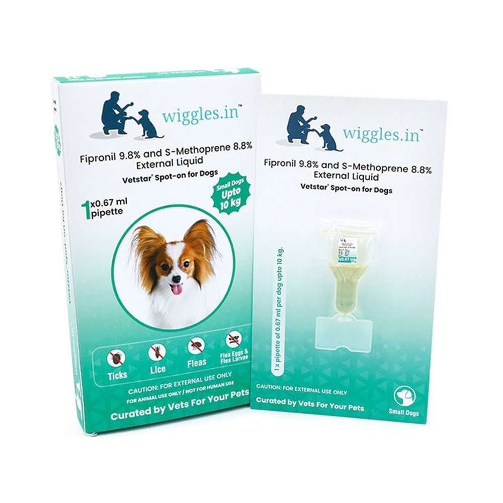Wiggles Spot On | Small Dogs upto 10 KG | 1 Pipette
