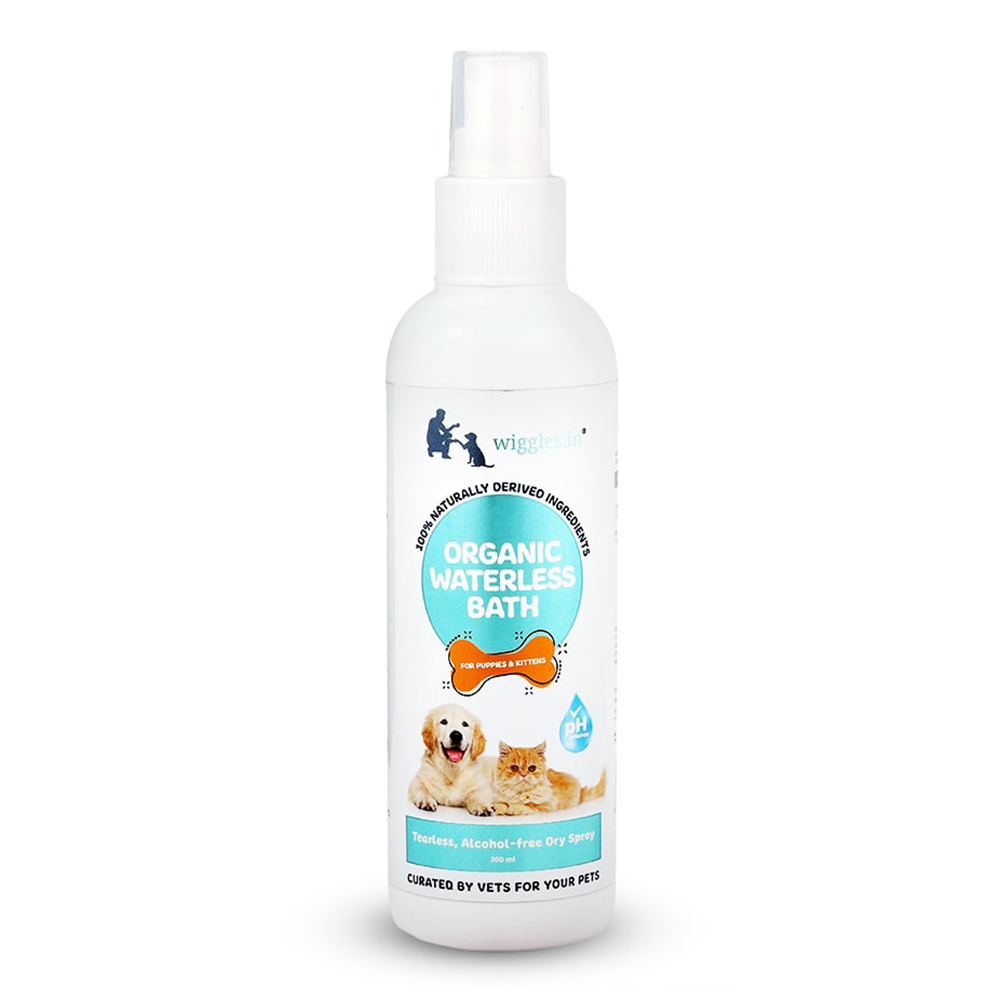 Wiggles Organic Waterless Bath |  Puppies and Kittens | 200 ML