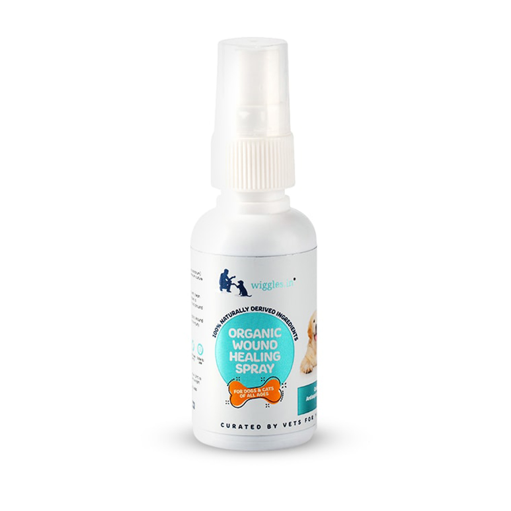 Wiggles Organic Wound Healing Spray | Dogs and Cats | 50 ml