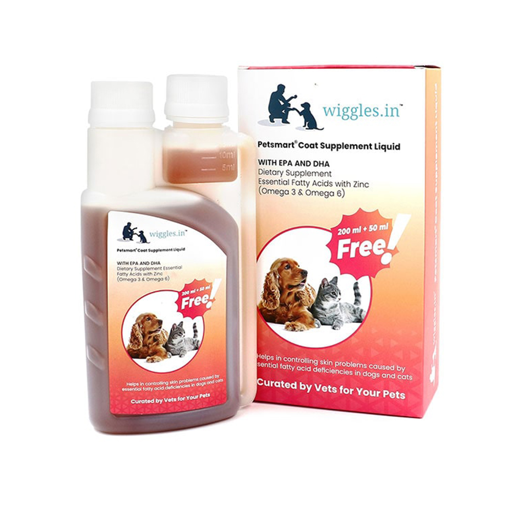 Wiggles Coat Supplement Liquid | Dogs and Cats | 250 ML