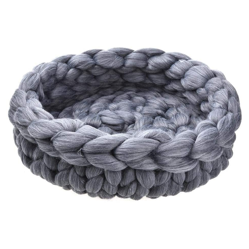 Woolen Basket Bed | Dogs and Cats | Large |